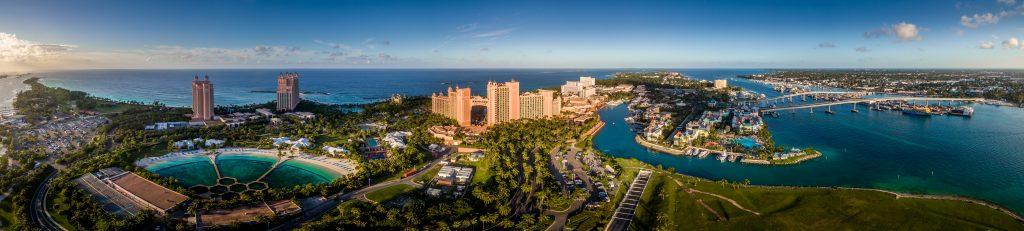 Atlantis Hotel on Paradise Island Nassau Bahamas Aerial Panorama
